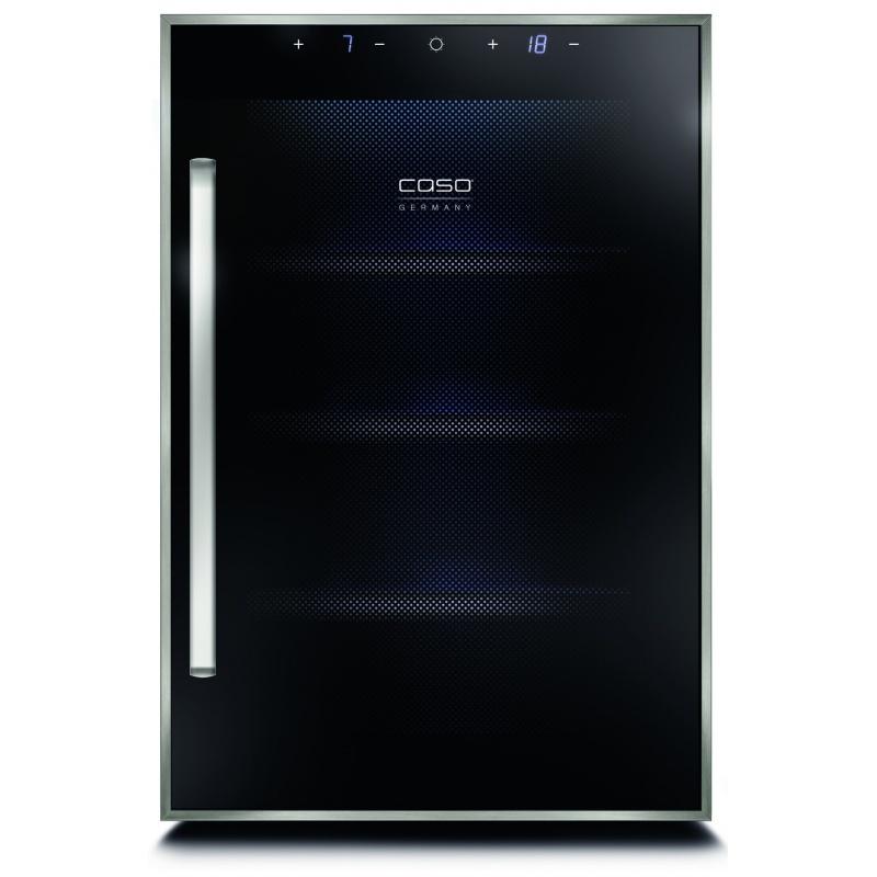 Vitrina de vinuri Caso WineDuett Touch 12,140W,12 sticle,otel inoxidabil/negru
