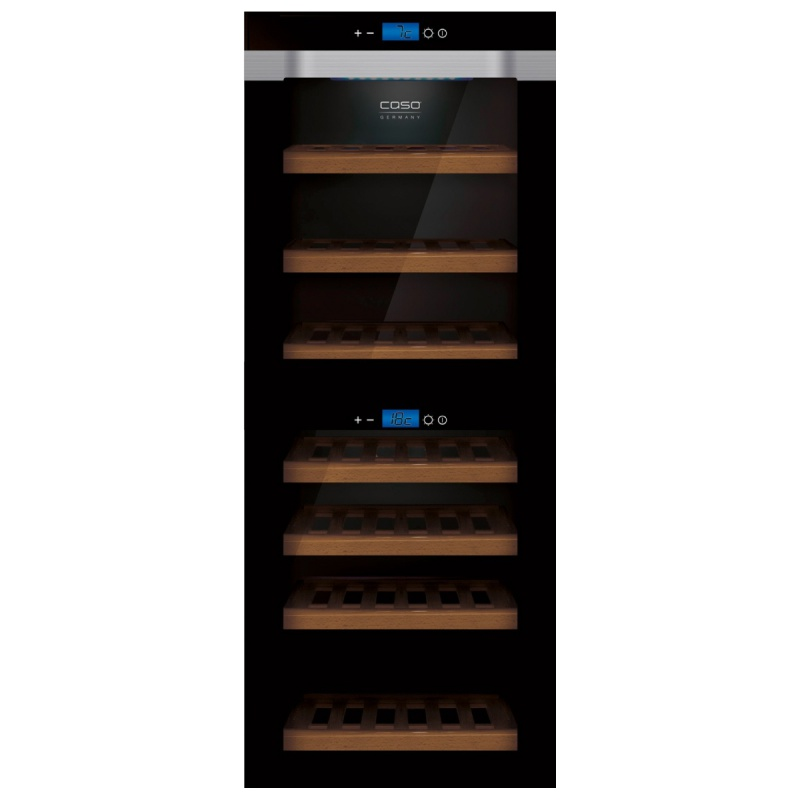 Racitor de vinuri Caso WineMaster Touch A one, 44 sticle, negru/otel inoxidabil