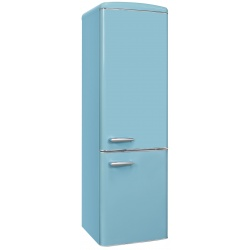 Combina frigorifica RETRO Exquisit RKGC250-70-H-160E TB, Clasa E, Volum net 244L, No Frost frigider, turcoaz