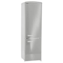 Combina frigorifica RETRO Exquisit RKGC250-70-H-160E GRAU, Clasa E, Volum net 244L, No Frost frigider, gri