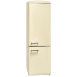 Combina frigorifica RETRO Exquisit RKGC250-70-H-160E MW, Clasa E, Volum net 244L, No Frost frigider, alb magnolie