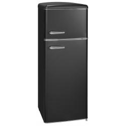 Frigider 2 usi Exquisit RKGC270-45-H-160E MS , clasa energetica E, volum net 206 L, No Frost frigider, negru mat
