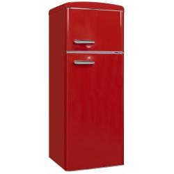 Frigider 2 usi Exquisit RKGC270-45-H-160E ROT , clasa energetica E, volum net 206 L, No Frost frigider, rosu