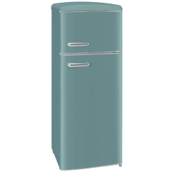 Frigider 2 usi Exquisit RKGC270-45-H-160E TB , clasa energetica E, volum net 206 L, No Frost frigider, turcoaz