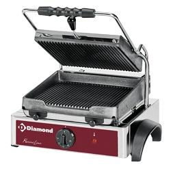 Gratar electric panini DIAMOND GR42,placi cu nervuri