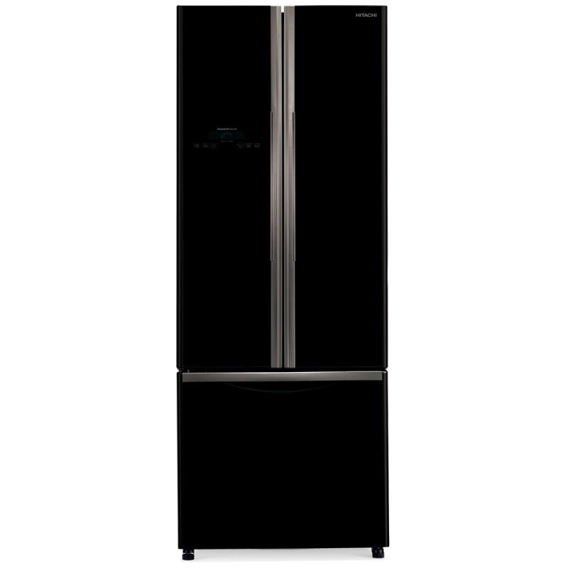 Side by Side Hitachi R-WB480PRU2(GBK), Clasa A+, 456 Litri, 178 cm inaltime, Sticla neagra