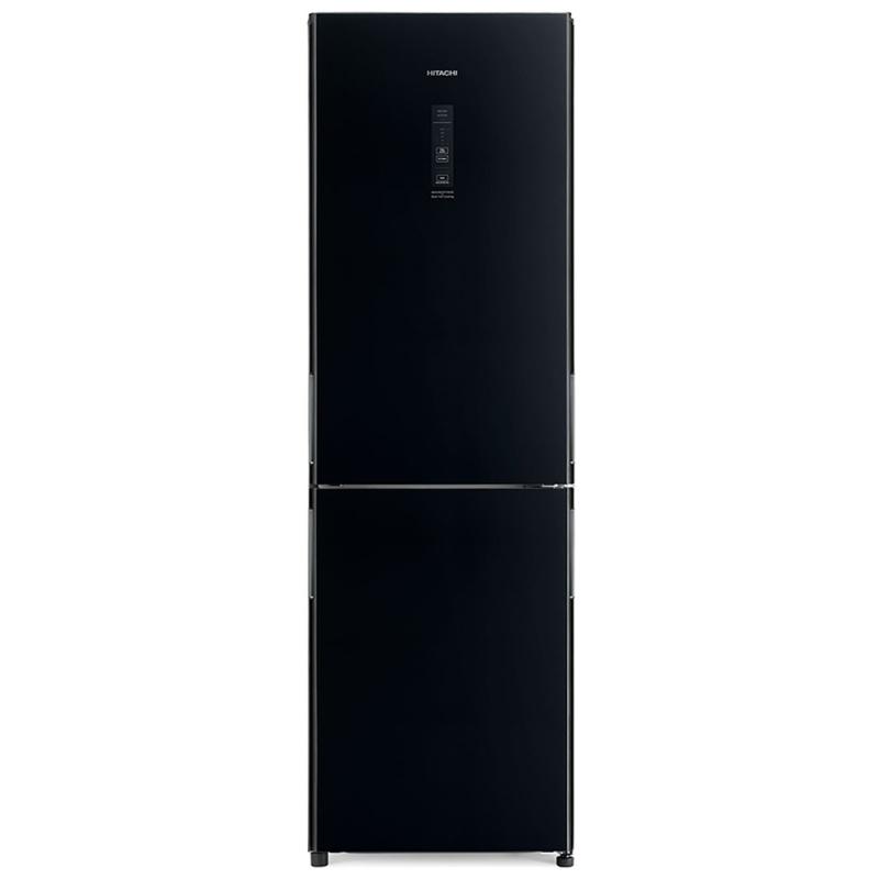 Combina frigorifica Hitachi R-BG410PRU6X(GBK), 330 L, clasa A++, 219 kWh/an, No Frost, Negru oglinda