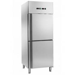 Combina frigorifica profesionala Amitek AK600DTV, capacitate 450 litri, 2 zone temperatura -2°+8 °C/-18°-22 °C, inox