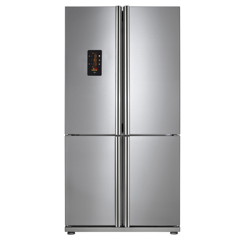Combina frigorifica Side by side Teka NFE 900 X, 4 usi, A+, 540 l, inaltime 182.5 cm, Inox