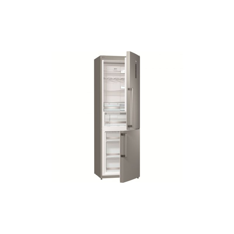 Combina frigorifica Gorenje NRK6191TX, No Frost, 307 l, Clasa A+, 185 cm, Argintiu