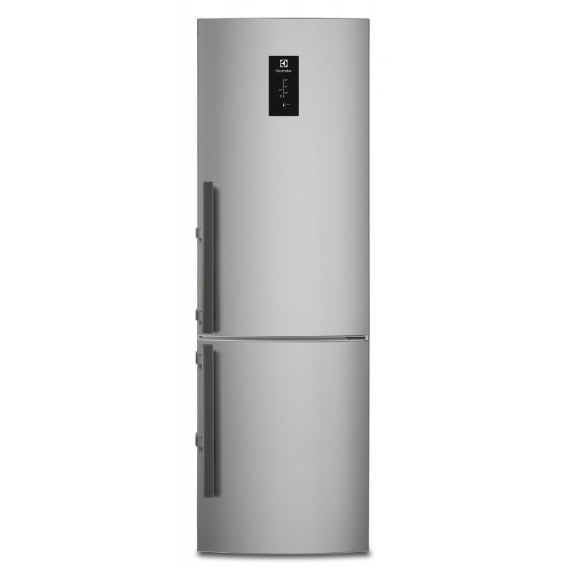 Combina frigorifica Electrolux EN3454MOX, 318 l, Clasa A++, No Frost, H 185 cm, Display, Touch control, Inox antiamprenta