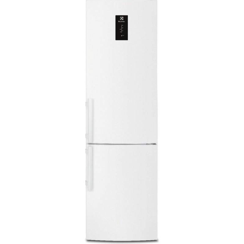 Combina frigorifica Electrolux EN3852JOW, 357 l, Clasa A+, No Frost, H 200 cm, Display, Touch control, Alb