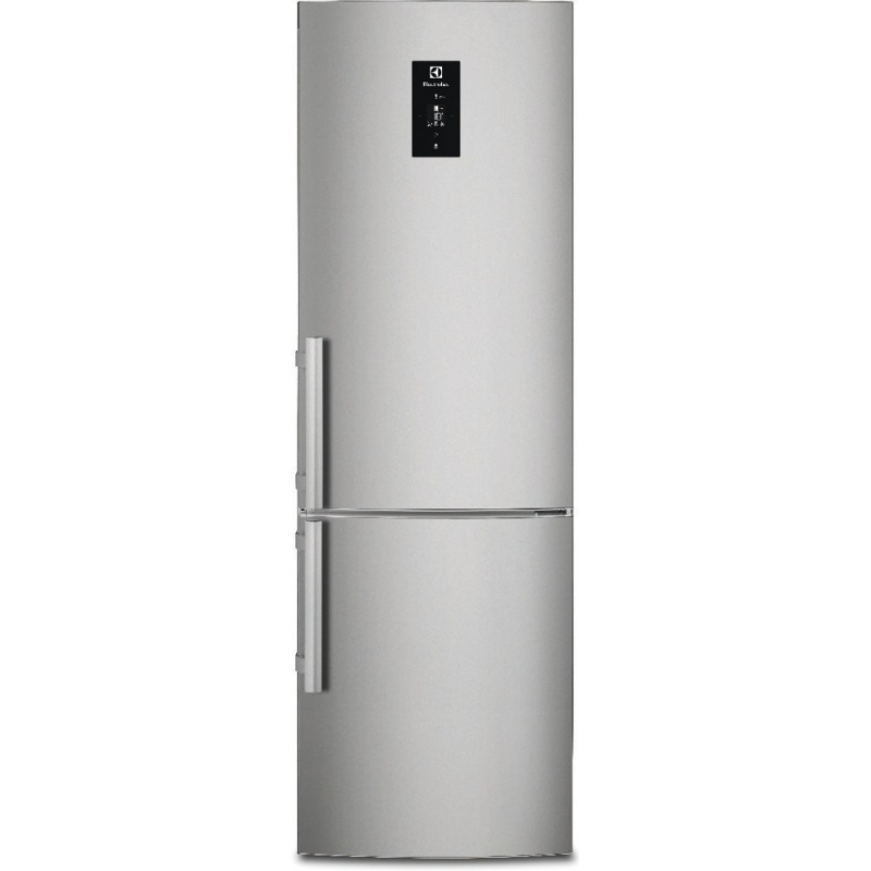 Combina frigorifica Electrolux EN3886MOX, 350 l, Clasa A++, No Frost, H 200 cm, Display, Touch control, Inox antiamprenta