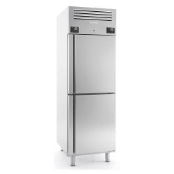 Combina frigorifica profesionala INFRICO AGN 702 MX, capacitate 2x 260 litri, 2 zone temperatura -2º+8ºC/-18ºC, inox