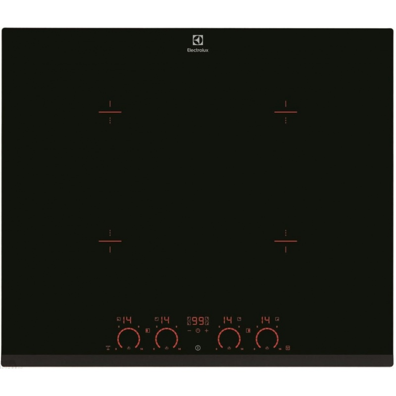Plita incorporabila Electrolux EHD6740FOK, Inductie pe toata suprafata, Booster 4 zone, Control Touch, 60 cm, Negru