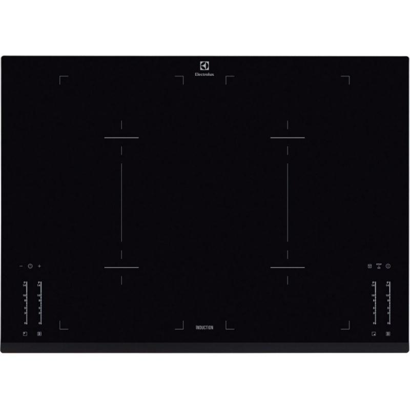 Plita incorporabila Electrolux EHL7640FOK, Inductie, Booster 4 zone, Touch control, 71 cm, Sticla neagra