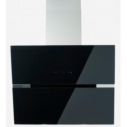 Hota PKM 50455,clasa energetica A ++, coș de fum din sticlă neagră / oțel inoxidabil