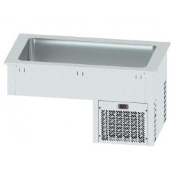 Vitrina frigorifica incorporabila pentru autoservire INFRICO EECF3, 208 W, latime 113.5 cm, temperatura +2ºC/ +10ºC, inox