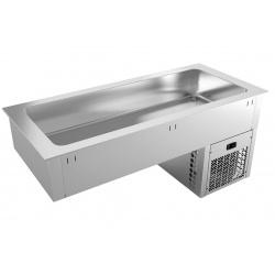 Vitrina frigorifica incorporabila pentru autoservire INFRICO EECF4, 208 W, latime 145.5 cm, temperatura +2ºC/ +10ºC, inox