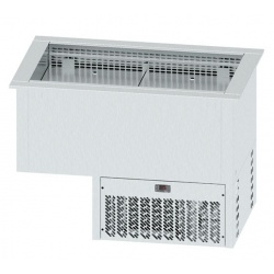 Vitrina frigorifica incorporabila pentru autoservire INFRICO EECFV3, 720 W, latime 115.5 cm, temperatura +2ºC/ +10ºC, inox