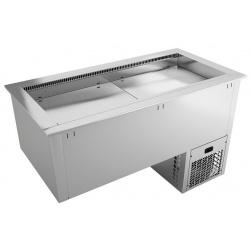 Vitrina frigorifica incorporabila pentru autoservire INFRICO EECFV5, 968W, latime 180.4 cm, temperatura +2ºC/ +10ºC, inox