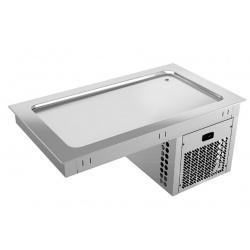 Vitrina frigorifica incorporabila autoservire INFRICO EEPF3, 208W, latime 113.5 cm, temperatura -4ºC/+4ºC, inox