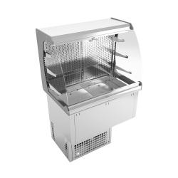 Vitrina frigorifica incorporabila INFRICO EEVMC3, 1269W, latime 1113.5 cm, temperatura +4ºC / +12ºC, inox