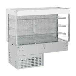 Vitrina frigorifica incorporabila INFRICO EEVMC4, 1422W, latime 145.5 cm, temperatura +4ºC / +12ºC, inox