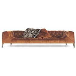 Canapea cu structura din lemn, maro