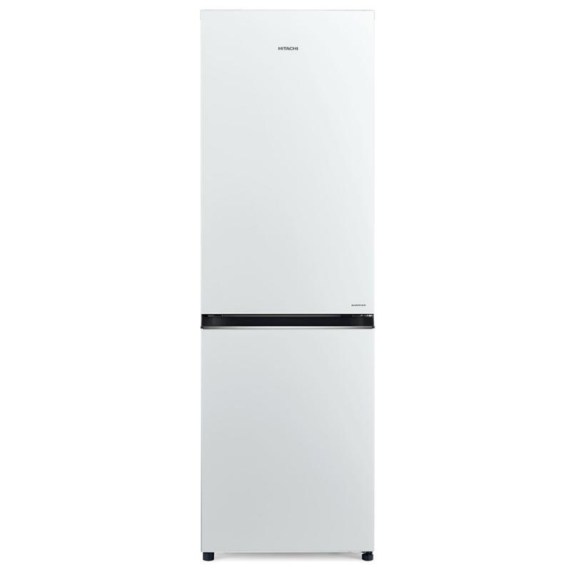 Combina frigorifica Hitachi R-B410PRU6(PWH), 330 L, clasa A++, 219 kWh/an, No Frost, Alb