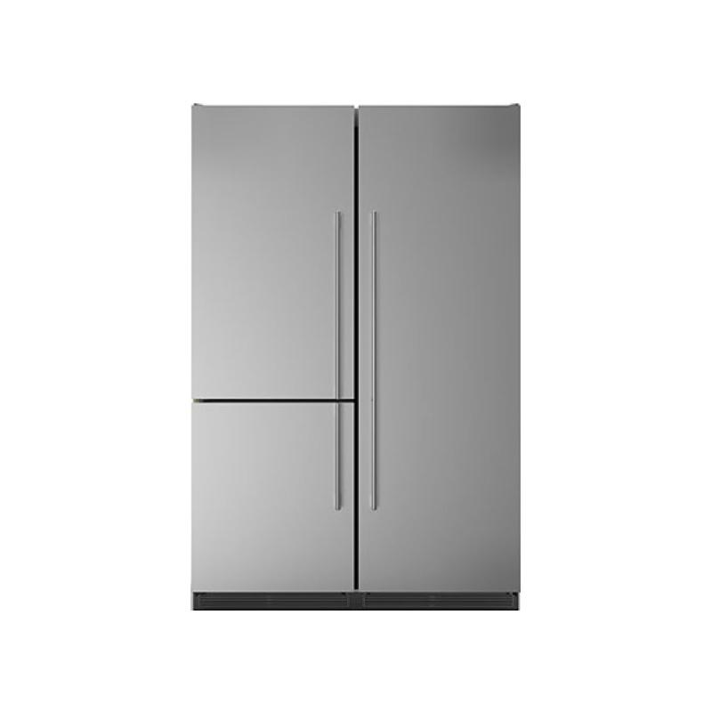 Side by Side combinat Bompani BO07601/E+BO07100/E, 668 litri, clasa A+, No Frost, Inox