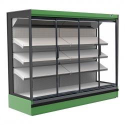 Vitrina frigorifica expunere supermarket INFRICO MX12DGH1, capacitate 788 L, latime 125 cm, rafturi inclinate, -1ºC / +10ºC