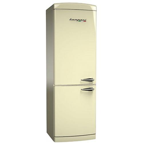 Combina frigorifica Retro Bompani BOCB675/C, Clasa A+, 316 litri, Latime 60 cm, Crem