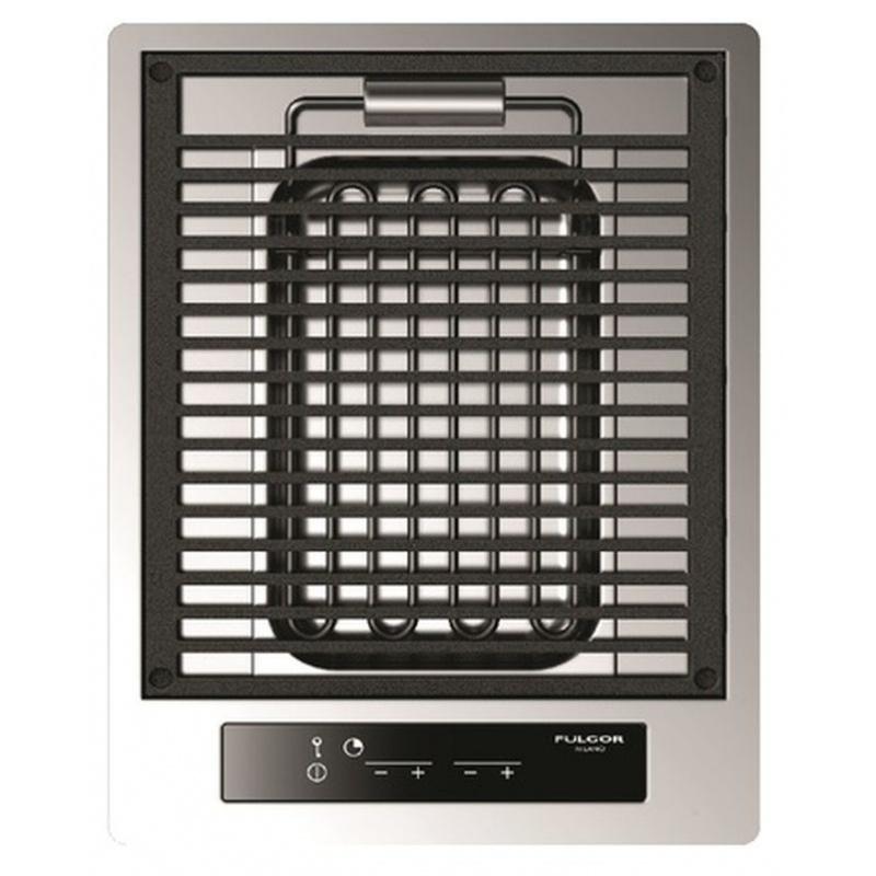 Plita incorporabila Fulgor Milano, CPH 401 BQ TC X, 40 cm, plita electrica, gratar lava stone, timmer, sticla neagra