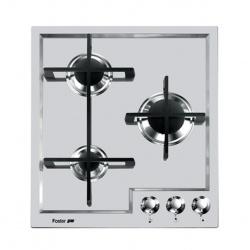 Plita incorporabila Foster Veronika 7063042, instalare STD, gaz, 44cm, 3 arzatoare, aprindere electrica, siguranta gaz, inox