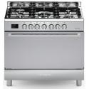 Aragaz Bompani Diva BO683MA/N 90x60 cm plita gaz 5 arzatoare aprindere electronica grill inox