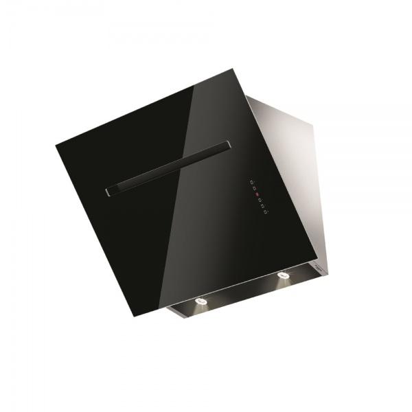 Hota decorativa Fulgor Milano FLH 800 TC BK, 80 cm, touch control, sticla neagra