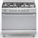 Aragaz Bompani Diva BO683MG/N 90x60 cm plita gaz 5 arzatoare aprindere electronica grill inox