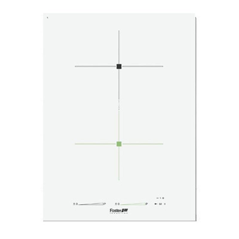 Plita incorporabila Foster S4000 Domino 7341245, instalare Q4/FT, inductie, 38cm, 2 zone de gatit, booster, alba