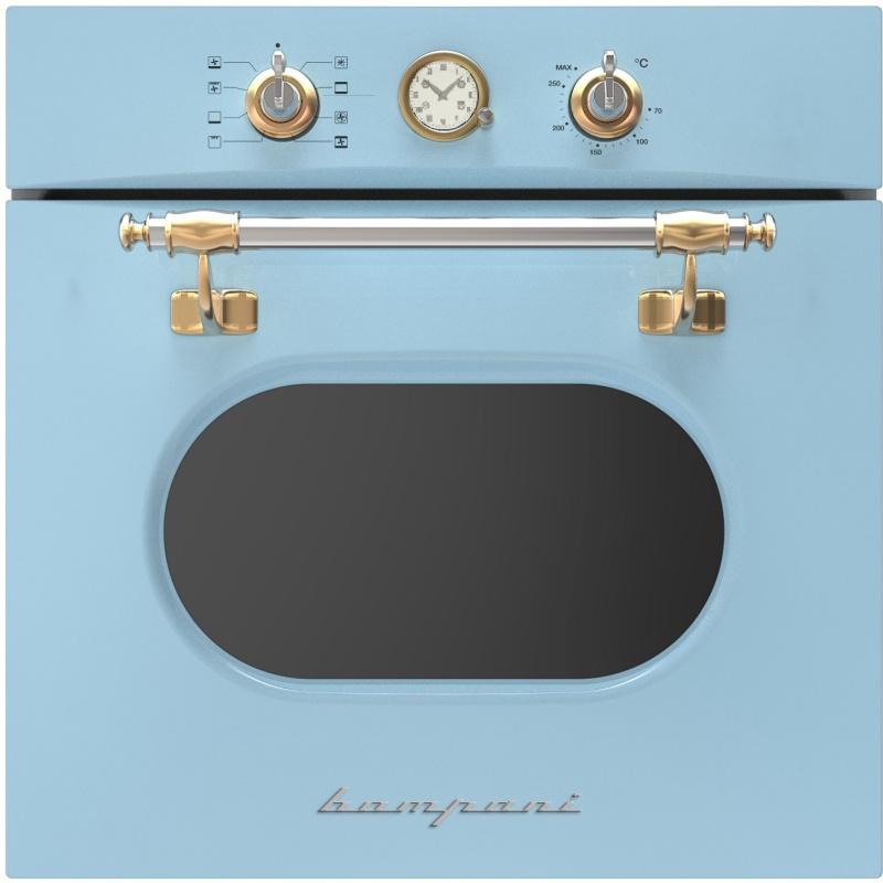 Cuptor incorporabil Bompani Retro BO242WA/E, electric, multifunctional, 60cm, 54l, turcoaz