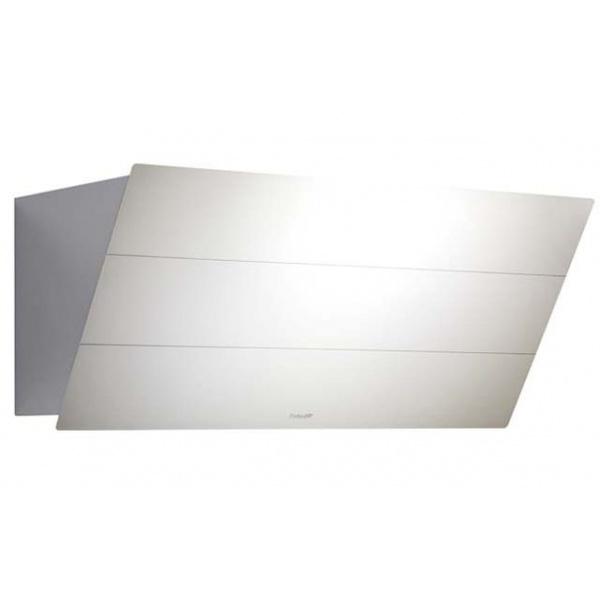Hota decorativa Foster FL Slim 2450190, 90 cm, 725 m³/h, 1 motor, sticla alba