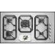 Aragaz Tecnogas P1X66M4VC, 60 cm, gaz, 4 arzatoare, grill, otel inoxidabil