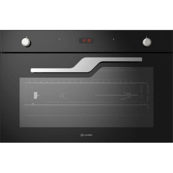 Cuptor electric incorporabil Smalvic NEXT FI-95MT N, 90cm, 110l, grill electric, negru