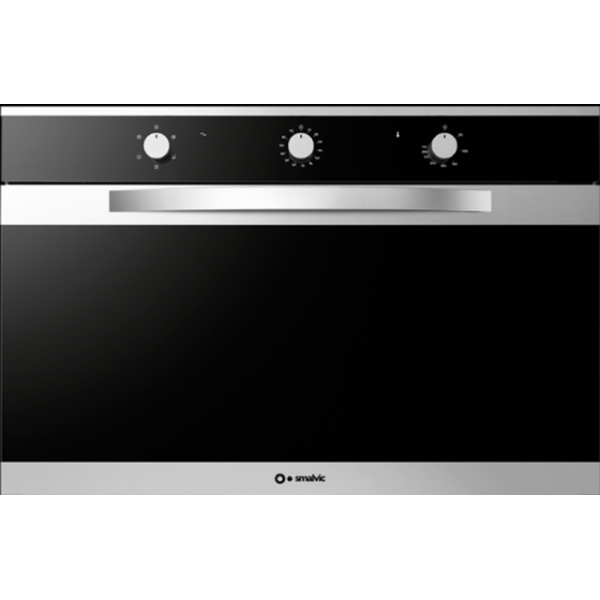 Cuptor electric incorporabil Smalvic LINEAR FI-95WT S , 90cm, 110l, grill electric, inox si negru