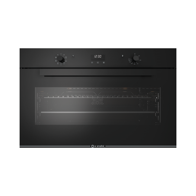 Cuptor electric incorporabil Smalvic GLASS NERO FI-95MTB, 90cm, 110l, grill electric, negru