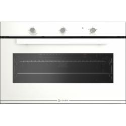 Cuptor gaz incorporabil Smalvic GLASS BIANCO FI-95GEVT, 90cm, 110l, grill electric, alb