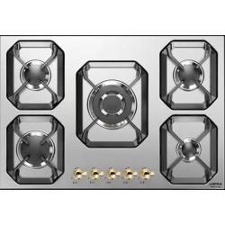 Plita incorporabila Lofra Dolcevita HRS7A0, 75 cm, plita gaz, 5 arzatoare,sistem siguranta Stop-Gaz, inox