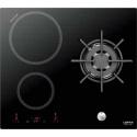 Plita incorporabila Lofra Luna, HIN612, 60 cm, plita inductie+gaz, 3 zone gatit, booster, sticla neagra