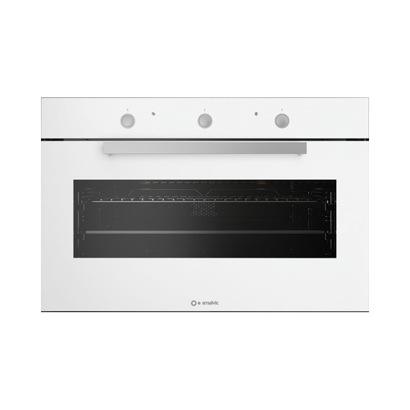 Cuptor electric incorporabil Smalvic FLAT Bianco FI-95WTS, 90cm, 110l, grill electric, alb
