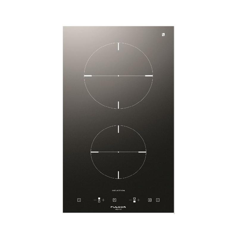 Plita incorporabila Fulgor Milano, CH 302 ID TC BK, 30 cm, plita inductie, 2 zone gatit, timmer, sticla neagra